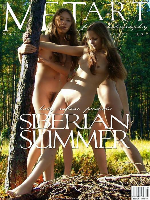 三个俄罗斯姑娘西伯利亚森林外拍_666人体艺术摄影