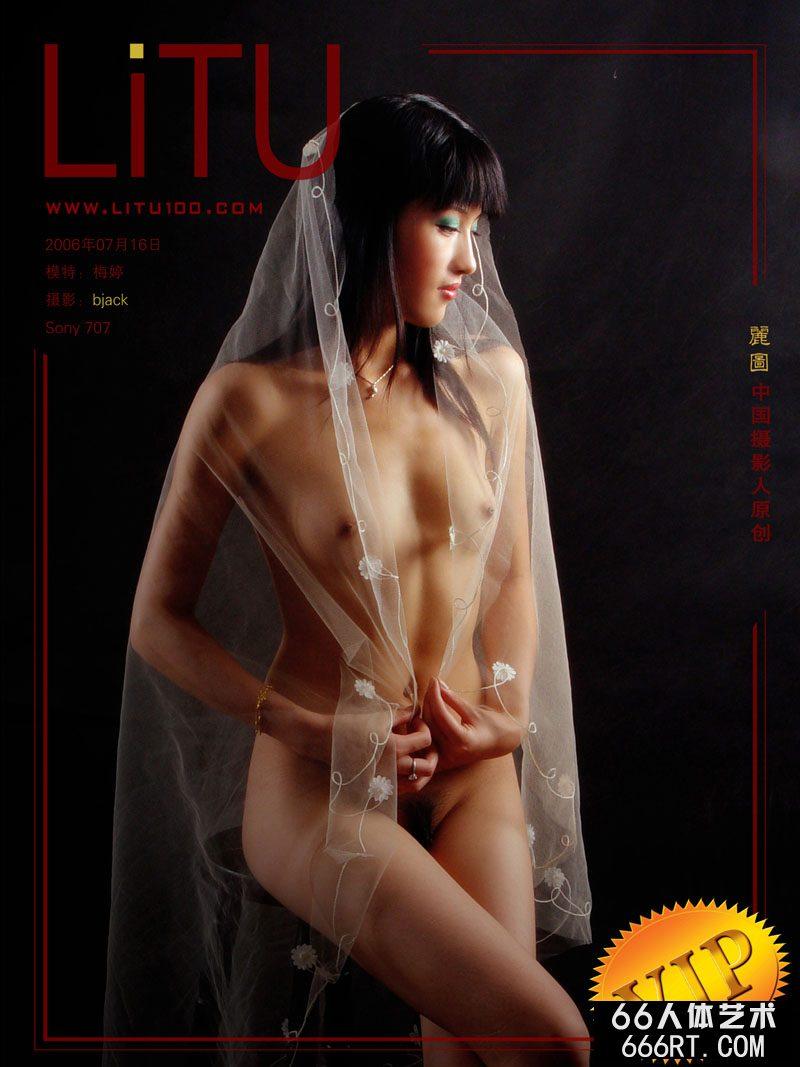 裸模梅婷06年7月16日棚拍薄纱胴体