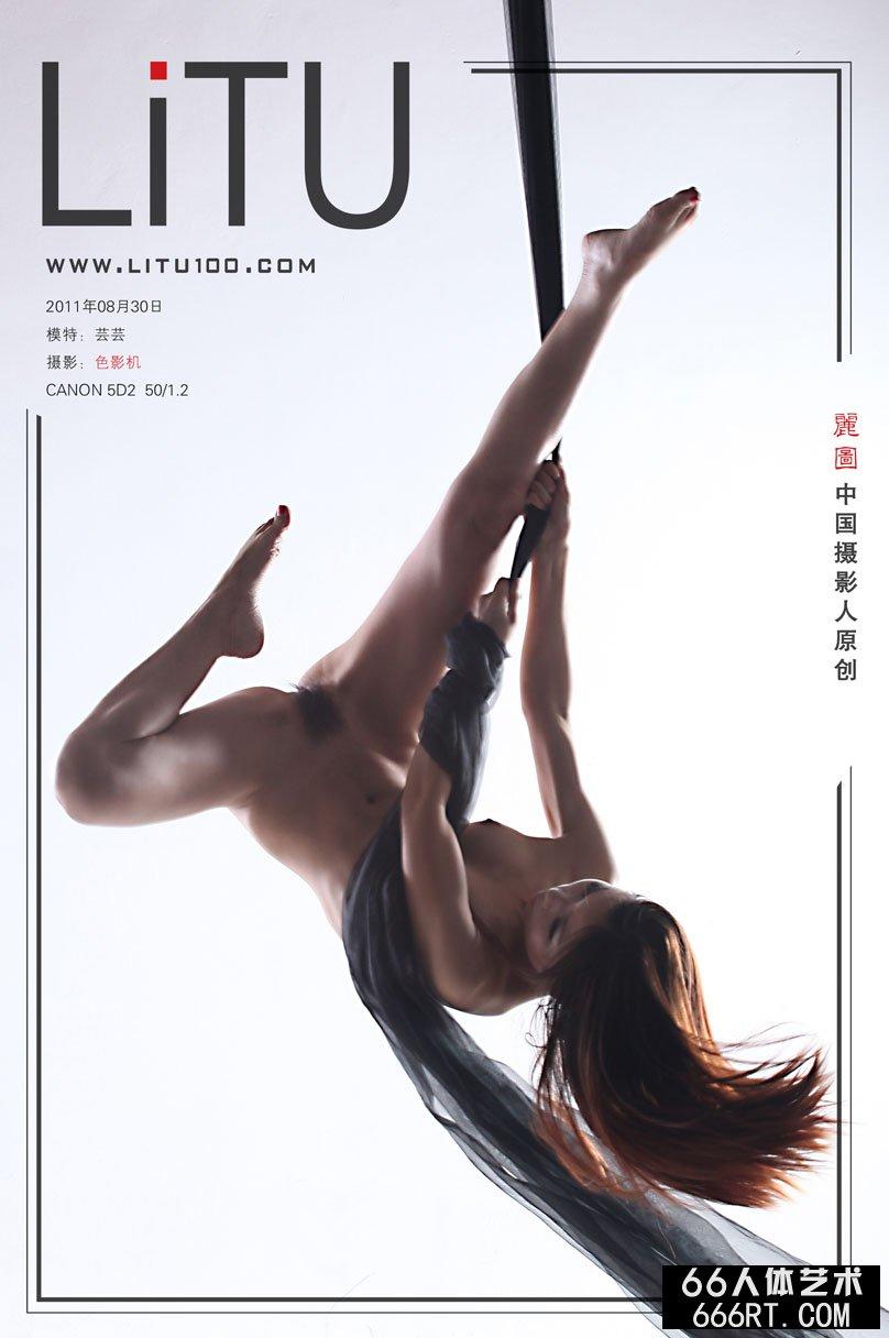 舞蹈美模芸芸棚拍高难度舞蹈动作