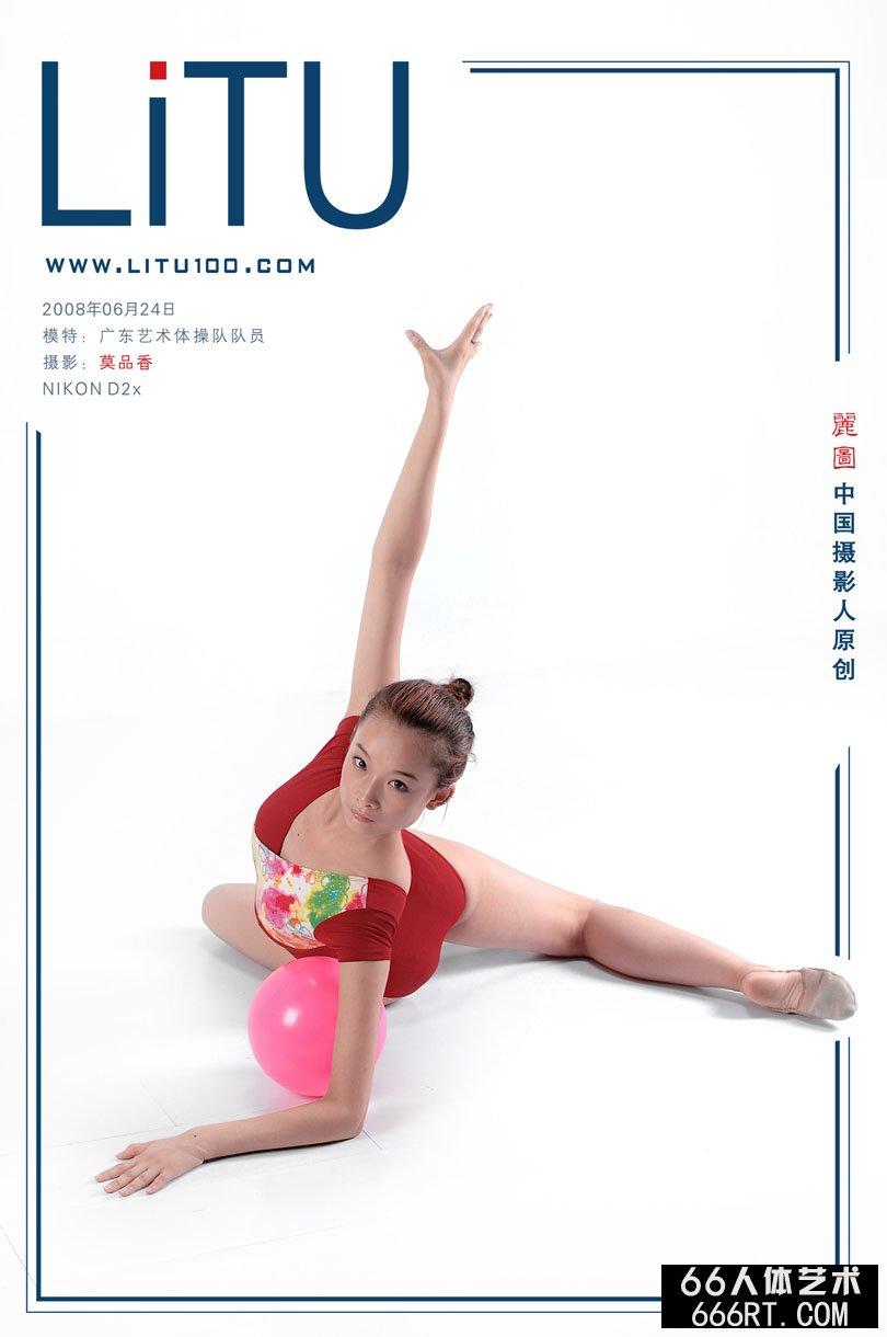 广东艺术体操队队员棚拍体操摄影